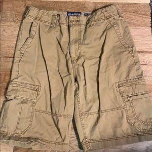 American rag dark khaki shorts